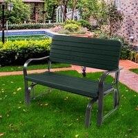 Высокое качество Удобный открытый патио стальная качающаяся скамейка для отдыха на двоих сверхмощная стальная конструкция патио мебель