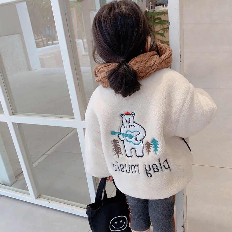 Mannen En Vrouwen Kinderen Jas Cartoon Berber Fleece Gewatteerde Dikke Tops Jas 20 Winter Nieuwe Stijl Childrenswear