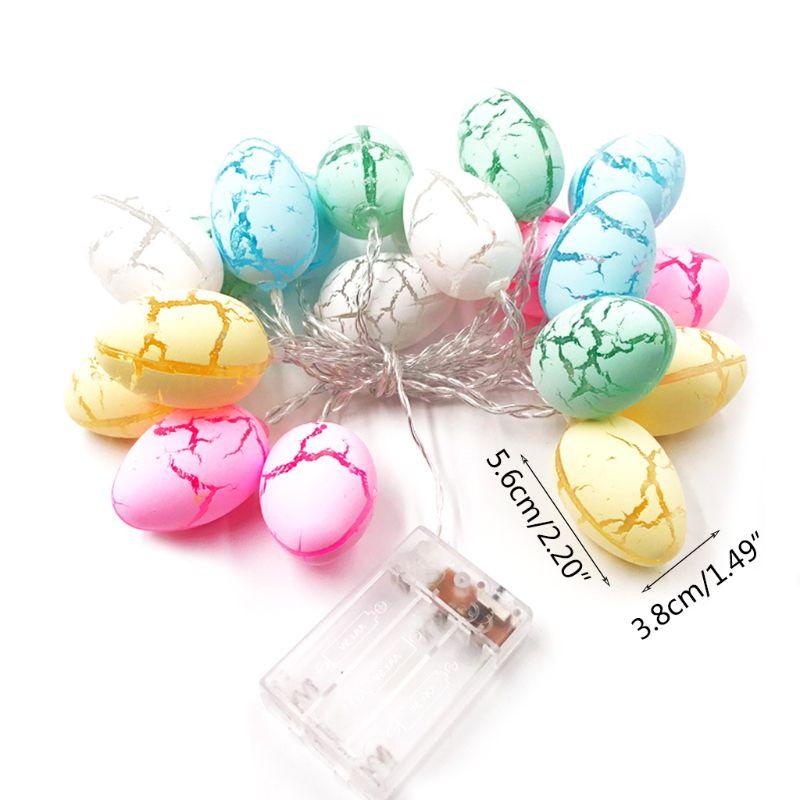 10/20 LED Easter Eggs Shape String Light Copper Wire Battery Powered Tree Decor 24BA