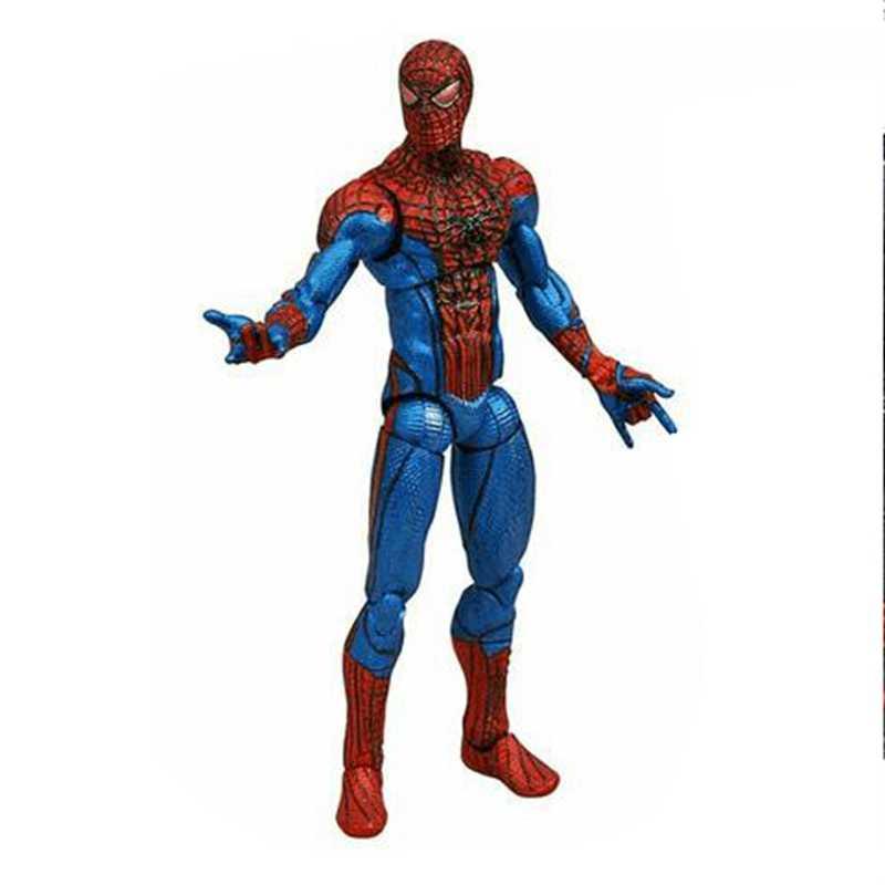 Figura de ação de filme homem aranha, brinquedo com diamante selecionado, boneco para brinquedos