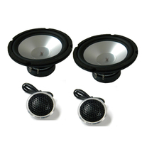 6 inch 6.5inch 400w 4ohm Aluminium Cone Silver Component Speaker Set Car Audio Mid range With Dome Tweeter And Crossover