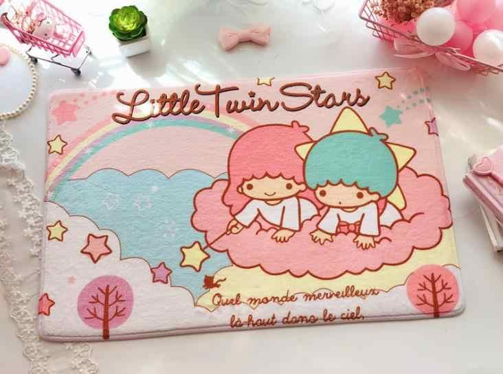 1 Pcs Kawaii My Melody Little Twin Sterne Pudding Cinnamoroll Hund Plüsch Teppich Cartoon Fuß Pad Tür Matte Teppich Plüsch spielzeug Geschenke