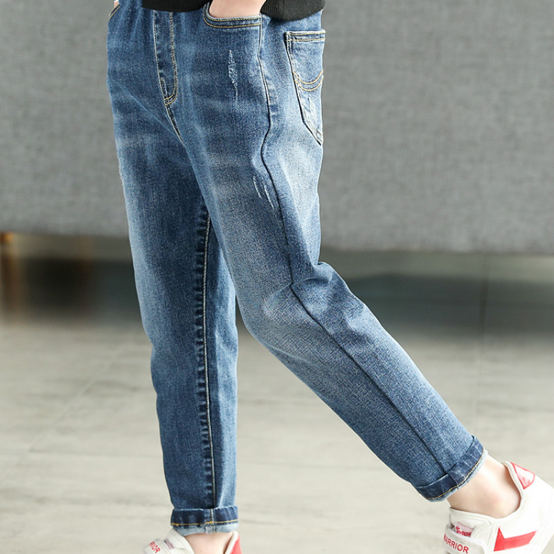 Children's wear boy's jeans pants boy's spring thin pants baby boy clothes boys pants title=