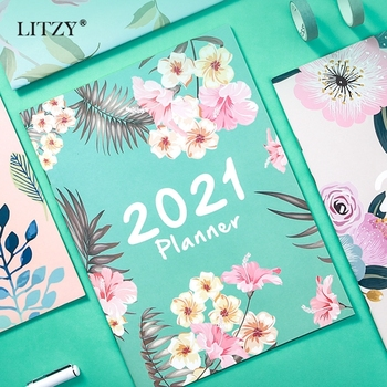 2021 Planner Organizer A4 Notebook Agenda Daily Weekly Schedule Monthly School Office Supplies Journals Stationery 2021 table calendar simplicity agenda planner weekly monthly to do list desktop paper calendars office stationery supplies