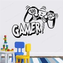 Gamer Vinyl Wall Sticker Boys Bedroom wall Decor Game Room wall decal gaming decoration JH351 недорого