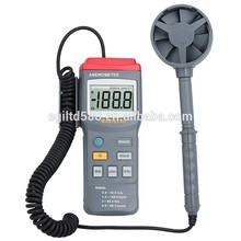 Wholesale Digital Anemometer Air Velocity Wind Speed Meter Tester Range 77.7Knots 40M/S 131.2Ft/S 144Km/H Anemometer MS6250 5 in 1 environment meter thermometer hygrometer anemometer wind speed sound level light meter air velocity humidity tester