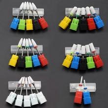Самый полный 27 Тип керамический сверло для ногтей для электрического сверлильного станка маникюрный аксессуар керамический Фрезерный резак пилочка для ногтей инструмент