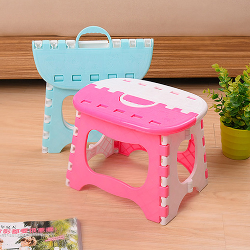 Household Space Saving Storage Foldable Chair For Kids Use Camping Outdoor Stool Multi Purpose Folding Step Stool