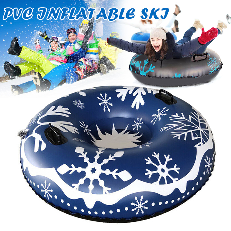 Newly Snow Tube For Winter Fun Inflatable 47 Inch Heavy Duty Snow Sleds Skiing Supplies S66