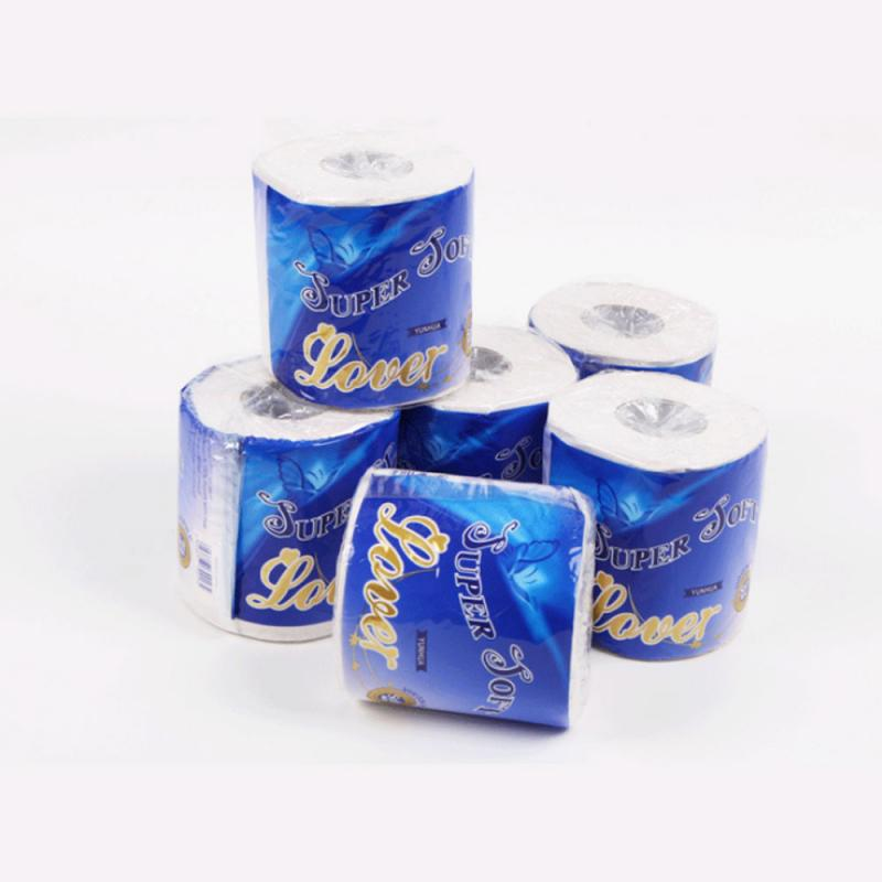 100g Toilet Paper Roll Pack  Bathroom White Soft Toilet Paper Roll Tissue Natural Bathroom Tissue Roll Three-layer Tissue Househ