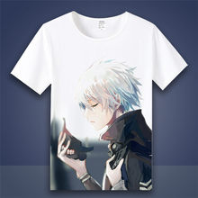 Tokyo Ghoul Cosplay T-shirt Ken Kaneki Touka Kirishima Mode Zomer T-shirts Japanse Anime Cartoon Top Tee Cosplay Kostuum(China)