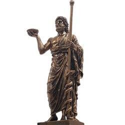 Греческая мифология Asclepius Aesculapius Смола искусство и ремесло Ретро Статуя творческая мифологическая фигура украшения для дома A562