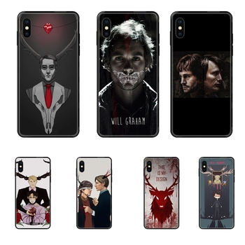 Graham Hannibal Mads Mikkelsen Super Luxury Quality Black Soft TPU Phone Case For Huawei Honor Mate Play V10 View 10 20 20X 30 image