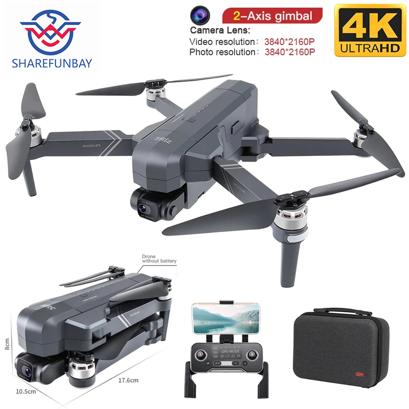 Permalink to New F11 PRO professional 4K HD dual-camera PTZ drone brushless 5G Wifi Gps system supports 128G TF card RC Quadcopter drone
