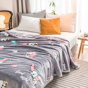 Image 4 - Dumbo ผ้าห่มแฟชั่นผ้านวม twin full queen king เด็กผ้าห่มโยนผ้าห่มบนเตียง/รถยนต์/โซฟาการ์ตูนเด็กพรม