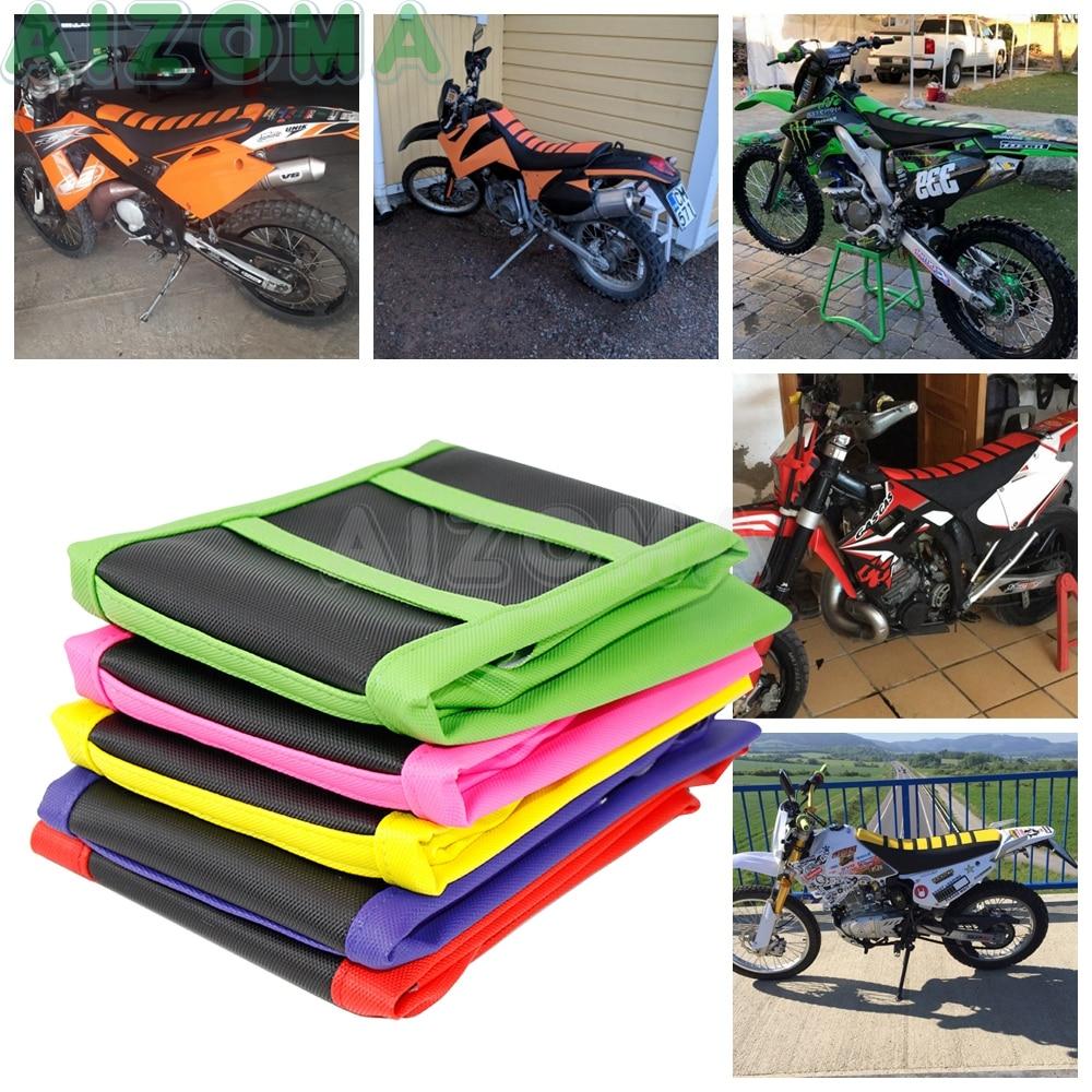 Seat-Cover Motocross-Protector Ribbed Rubber Husqvarna Yamaha Honda Suzuki For Kawasaki