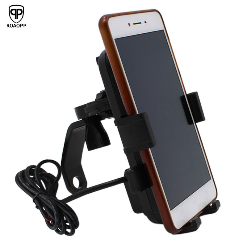 USB Charger Motorcycle Moto Waterproof Universal 12V Scooter Phone Holder Accessories