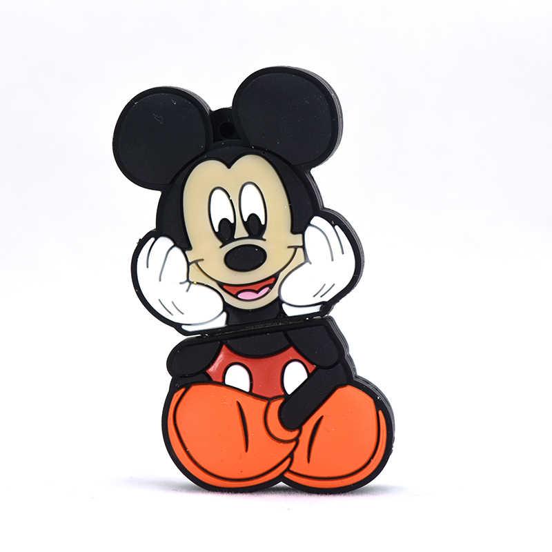 מיקי עכבר usb דיסק און קי 32GB 16GB cartoon עט כונן 4GB 8GB 64GB 128GB 256GB אנימה U מקל funy בעלי החיים זיכרון פלאש מקל