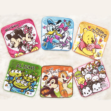 Towel Mickey Disney Small Cotton Cartoon 20x20cm Mouse Square Saliva Three-Eyed Children's