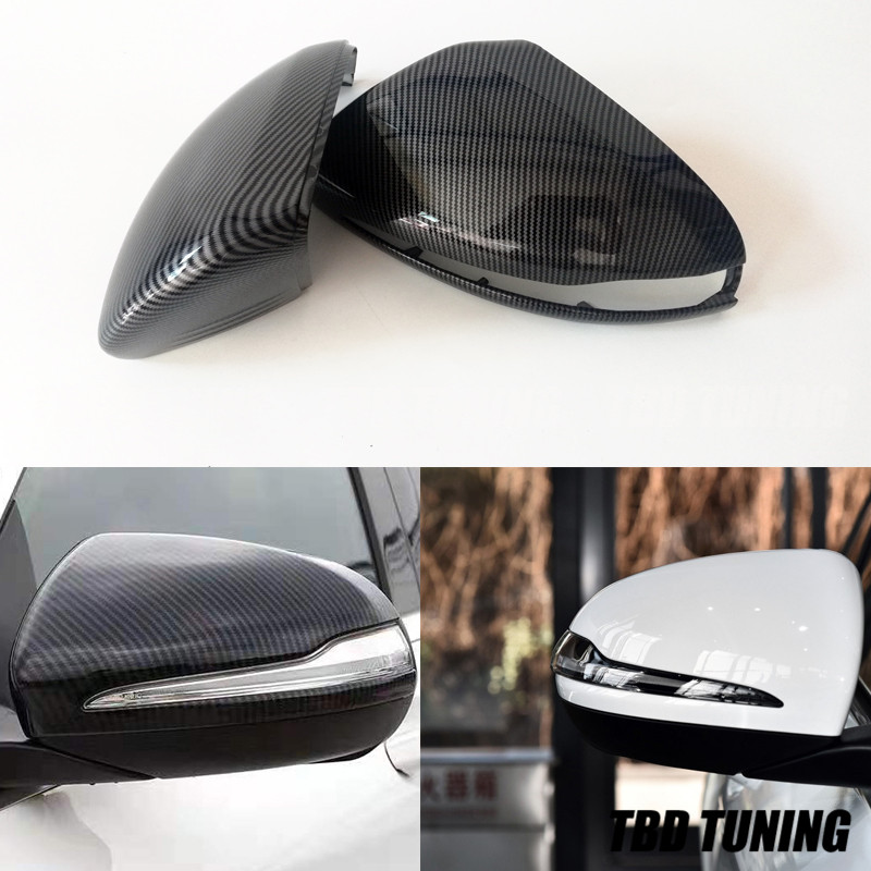 Carbon Fiber Look Mirror cover For <font><b>Mercedes</b></font> W205 <font><b>W222</b></font> W213 W238 X205 For Benz C <font><b>S</b></font> GLC E <font><b>Class</b></font> AMG 1:1 2014 2015 2016+ Only LHD image