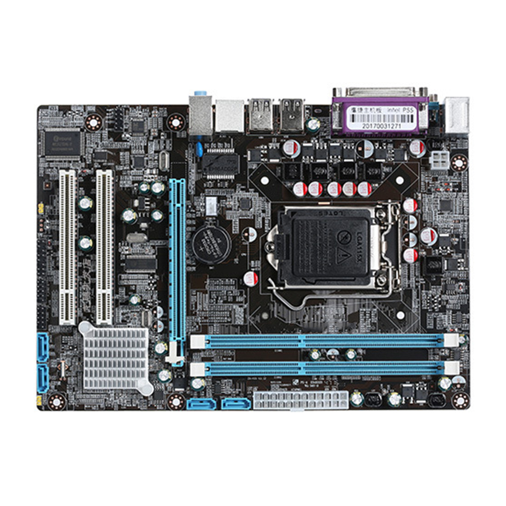 <font><b>Intel</b></font> P55 Home DDR3 USB Interface Dual Channels Fast Desktop Replacement <font><b>Motherboard</b></font> Stable LGA1156 Accessories Office Wide Use image