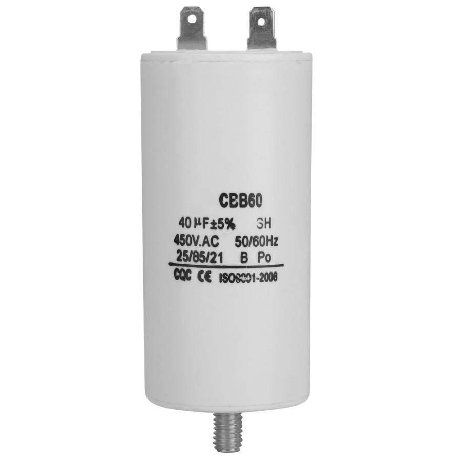 CBB60 250 V CA 100 uF 50//60 Hz Condensatore di avvio del motore Condensatore microfarad con cavo per compressore daria del motore Condensatore di marcia