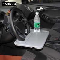 Volante portátil Universal para ordenador portátil de coche, bandeja para asiento de café, accesorios para coche