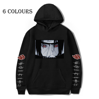2020 Naruto Akatsuki Hoodies Women Men Itachi Pullover Fashion Autumn Winter Sweatshirt Unisex Hip Hop Streetwear Hooded Coat 2020 naruto akatsuki hoodies women men itachi pullover fashion autumn winter sweatshirt unisex hip hop streetwear hooded coat