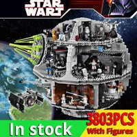 3803PCS lele Death Star 35000 Building Block Wars toys for Children TIE Fighter Bricks Compatible LegoINGlys 10188 birthday gift