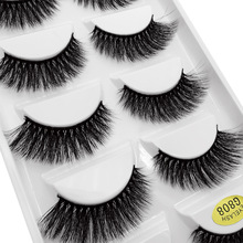 Fake Eyelashes Faux-Cils Dramatic Cilios Fluffy Natural 5-Pairs 3D