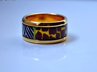 Cloisonne jewelry enamel round ring Europe and Africa