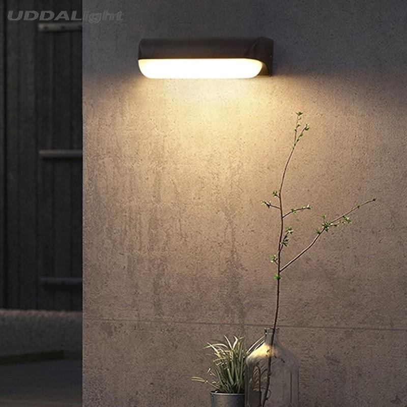 Işıklar ve Aydınlatma'ten LED Dış Mekan Duvar ışıkları'de Su geçirmez duvar aydınlatması 12W 7W lamba açık duvar SMD LED 160mm 260mm title=