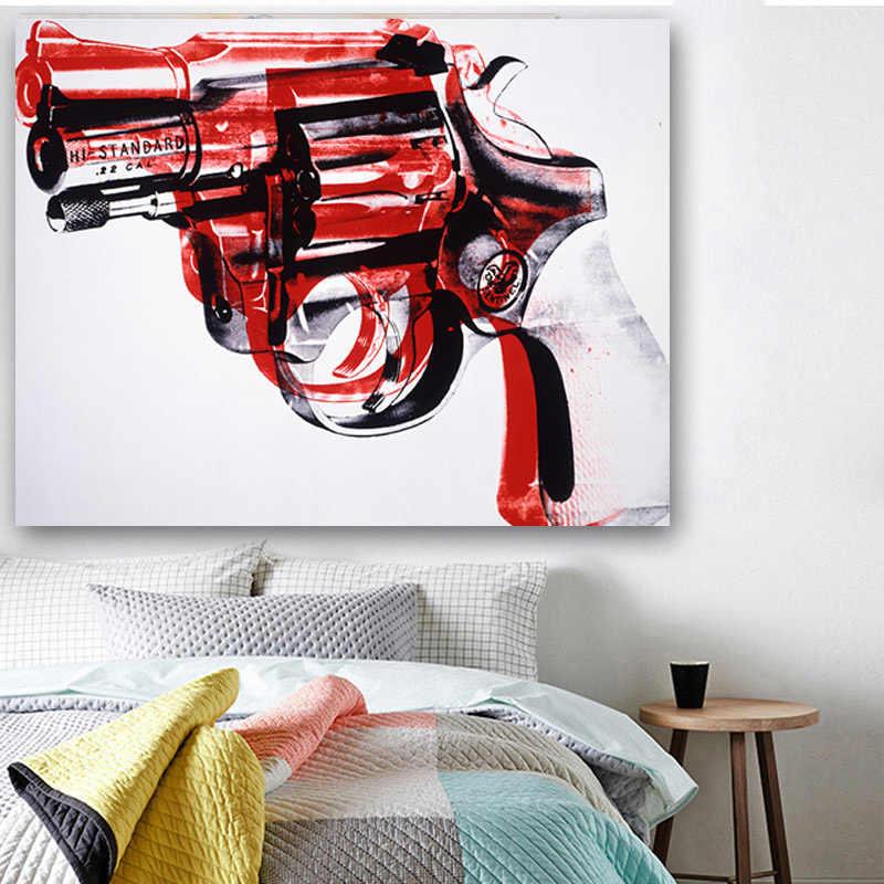 With frame pistolas,machine gun,bb gun canvas oil painting art home decoration