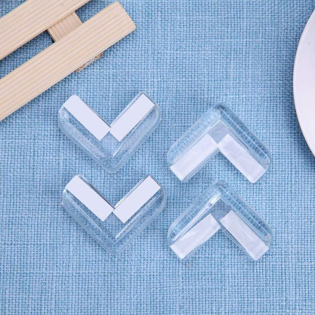 New Portable 4PCS Clear Child Baby Safety PVC Protector Table Corner Edge Protection Cover Children Anticollision Edge & Guards 4