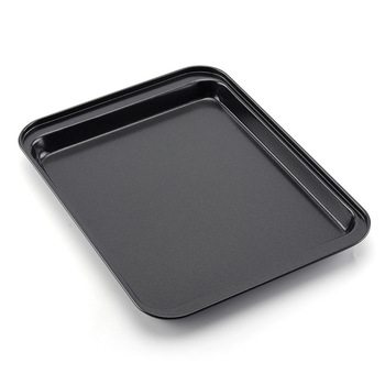 AIWILL 10-Inch Rectangular Two-Stage Plate Carbon Steel Non-Stick Cookie Baking Tray DIY Cake Mold Baking Utensils image