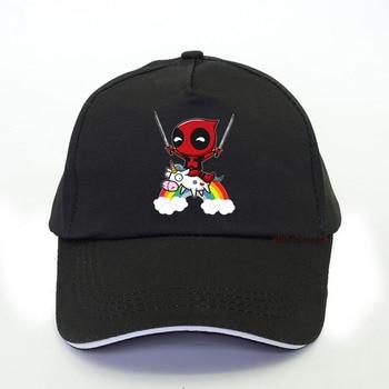 Summer New movie Deadpool Men baseball cap Fans lovely hip hop women Cartoon Funny unicorn snapback hat