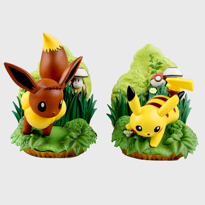 15cm Takara Tomy Pokemon Scene Edition pikachu Eevee anime action & toy figures model