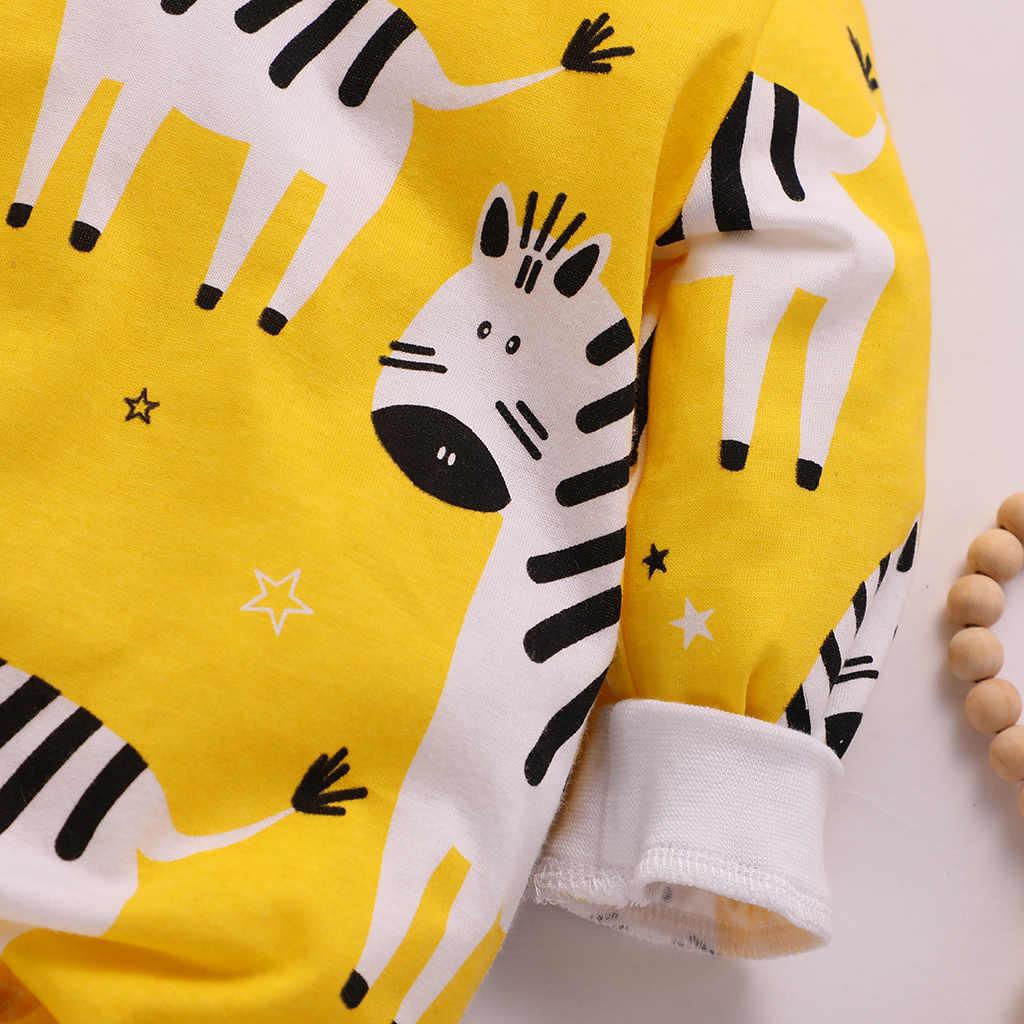 Traje de algodón para recién nacidos gateando de Otoño de invierno con patrón de cebra mono de manga larga para bebé