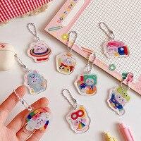 Kawaii Schöne Bär Keychain Handy Anhänger Dekorative Notebook Zubehör Mädchen Geschenk Schule Schreibwaren
