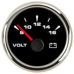 52mm Racing Car Volt Gauges Voltage Meter Gauge Voltmeters 9-32V for Auto Boat Yacht RV