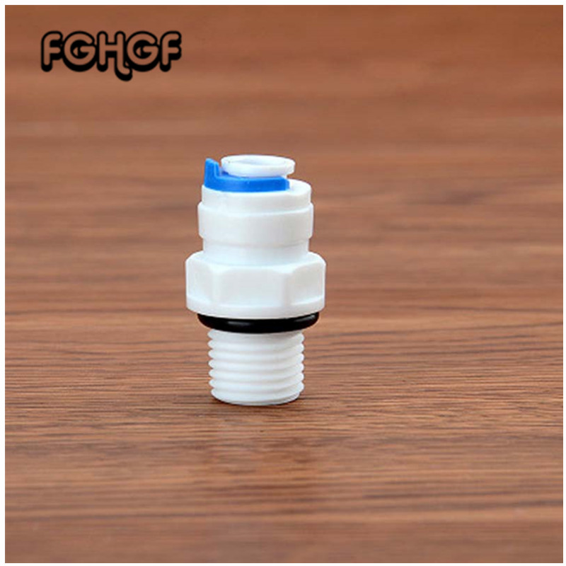 6pcs/set Straight Connect Fittings 1/4