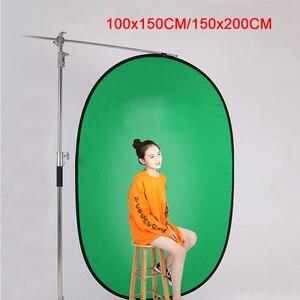 Image 1 - Fotografia portátil refletor chromakey pano de fundo verde azul tela backdrops painel para youtube vídeo studio100x150cm/150x200cm