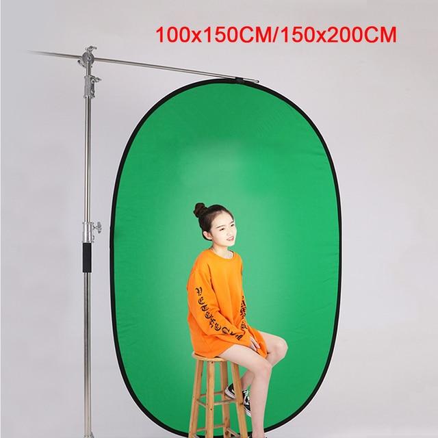 Fotografia portátil refletor chromakey pano de fundo verde azul tela backdrops painel para youtube vídeo studio100x150cm/150x200cm
