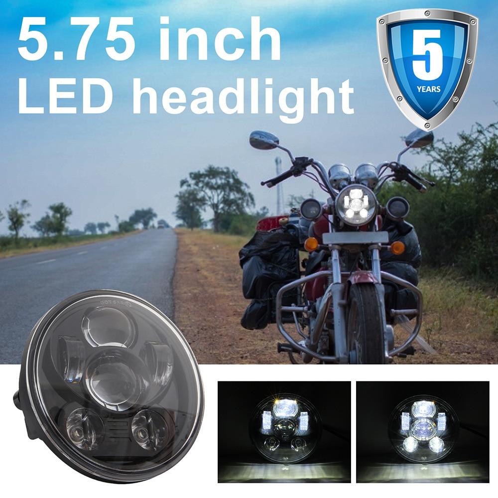 Universal 5.75 Polegada led farol da motocicleta do carro h4 phare farol moto farol cabeça luz para harley