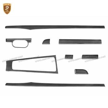 Real Carbon Fiber Center Console Decoration Frame Trim For For Porsche 981 991 2013-2018 For Porsche 718 2016-2019 Accessories