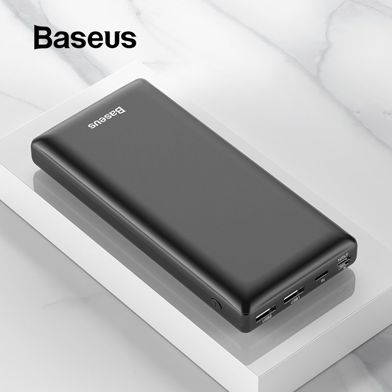 Baseus 30000mAh Power Bank For IPhone Samsung Xiaomi Powerbank USB C PD Fast Charging External Battery Pack USB Charger Bank