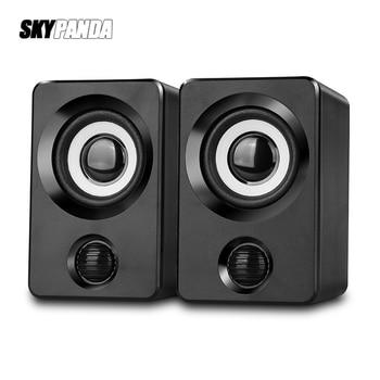 AUX Mini Computer Speakers USB Powered 1.3m Wired 1 Pair Bass Stereo Speakers for Laptop Desktop Phone 3W*2 Powerful Loudspeaker 1