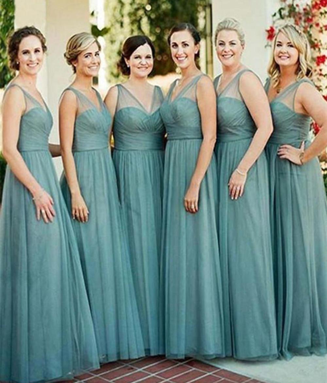 New Elegant Bridesmaid Dresses Long 2019  Formal Wedding Party Prom Dresses Robe De Soiree Vestido De Noiva