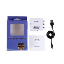 LESHP 1080P HDMI to AV Converter Female to Female HDMI to 3 RCA Audio Video AV Adapter Converter Support PAL/NTSC for HDTV DVD leshp 1080p hdmi to av converter female to female hdmi to 3 rca audio video av adapter converter support pal ntsc for hdtv dvd