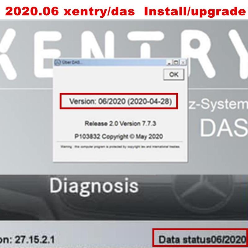 2020.06 mb estrela sd c4/c5/c6 win10 64bit profissão sistema software xentry/das instalar ou atualizar em linha pelo visualizador de equipe